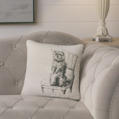 Matthias Vintage Dog Throw Pillow