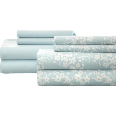 Leane Sheet Set Size: Queen, Color: Aqua