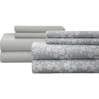 Leane Sheet Set Size: California King, Color: Gray