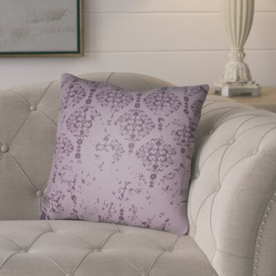 Chapelle Throw Pillow Size: 18 H x 18 W x 4 D, Color: Purple
