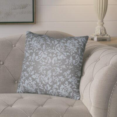 Chapelle Throw Pillow Size: 18 H x 18 W x 4 D, Color: Slate/Blue