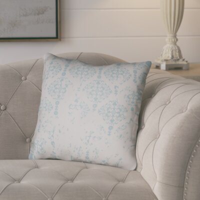 Chapelle Throw Pillow Size: 18 H x 18 W x 4 D, Color: Gray/Light Blue
