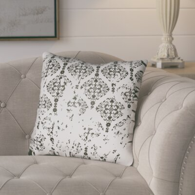 Chapelle Throw Pillow Size: 18 H x 18 W x 4 D, Color: White/Black
