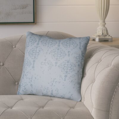 Chapelle Throw Pillow Size: 18 H x 18 W x 4 D, Color: Blue
