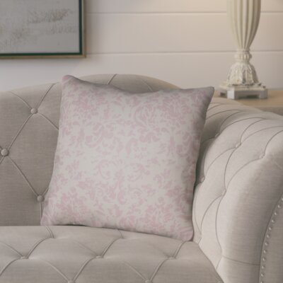 Chapelle Throw Pillow Size: 18 H x 18 W x 4 D, Color: Grey/Pink
