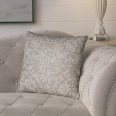 Chapelle Throw Pillow Size: 18 H x 18 W x 4 D, Color: Grey