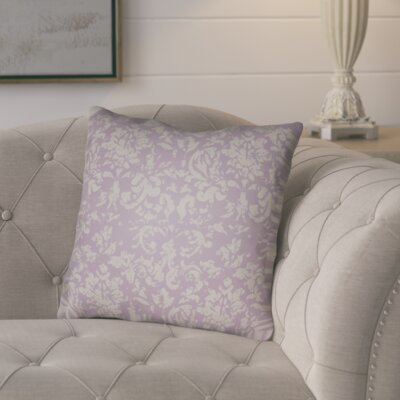 Chapelle Throw Pillow Size: 20 H x 20 W x 4 D, Color: Light Purple/Grey