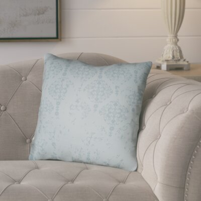 Chapelle Throw Pillow Size: 18 H x 18 W x 4 D, Color: Turquoise