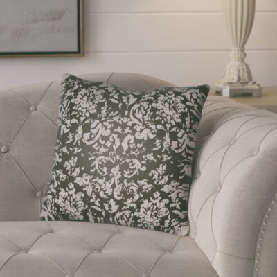 Chapelle Throw Pillow Size: 18 H x 18 W x 4 D, Color: Black/Grey