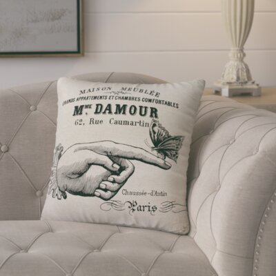 Murier Paris Butterfly Linen Throw Pillow