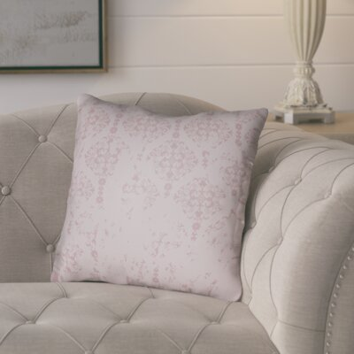Chapelle Throw Pillow Size: 20 H x 20 W x 4 D, Color: Pink