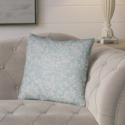 Chapelle Throw Pillow Size: 18 H x 18 W x 4 D, Color: Light Blue/Grey