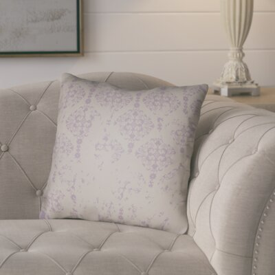 Chapelle Throw Pillow Size: 20 H x 20 W x 4 D, Color: Light Purple