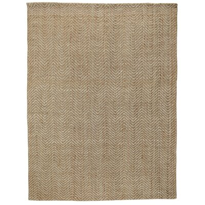 Aymen Hand-Woven Natural/Bleach Area Rug Rug Size: 8 x 10