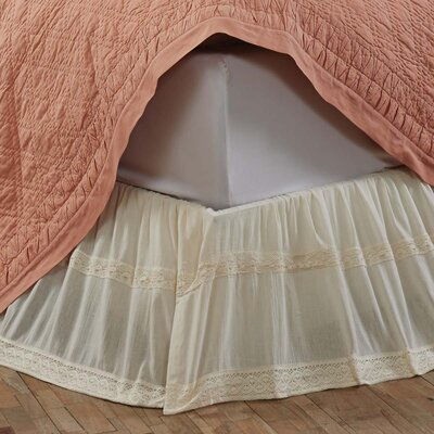 Juliana Bed Skirt Size: King, Color: Creme
