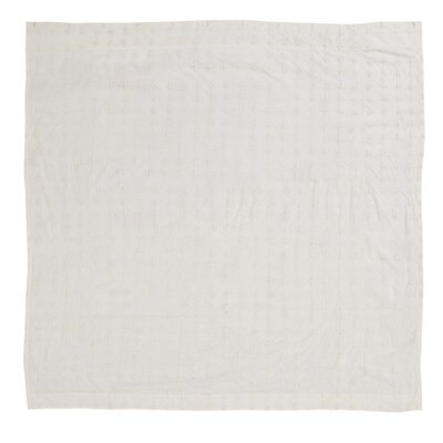 Juliana 100% Cotton Shower Curtain Color: Creme