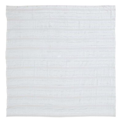 Willandra 100% Cotton Shower Curtain Color: White