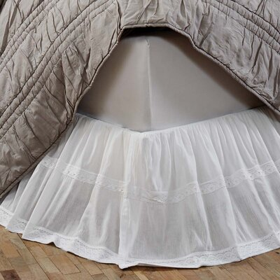 Juliana Bed Skirt Size: King, Color: White