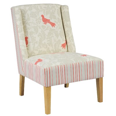 Rudel Bird and Stripe Slipper Chair