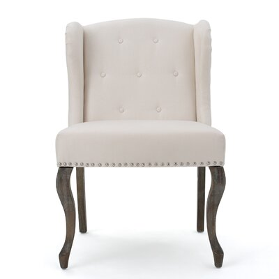Soan Wing back Chair Upholstery: Beige