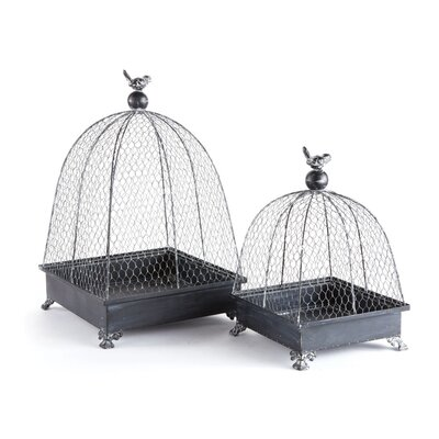 2 Piece Decorative Bird Cage