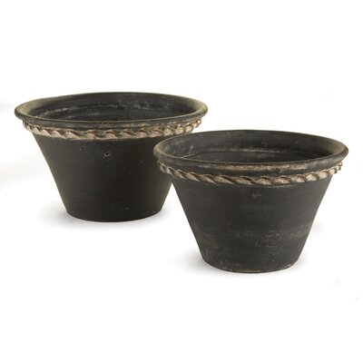 Amd Pastry Pan 2-Piece Clay Pot Planter Set