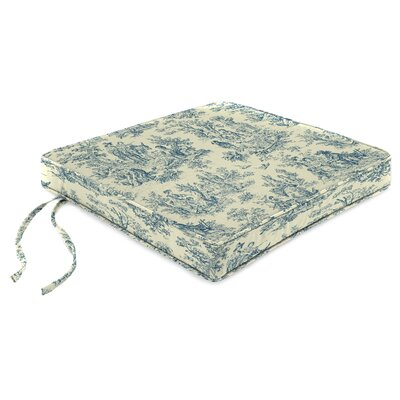 Indoor Chair Cushion Fabric: Charmed Life Cornflower