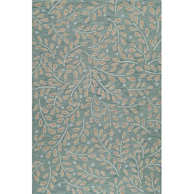 Cannon Hand-Hooked Green Area Rug Rug Size: Rectangle 8 x 10
