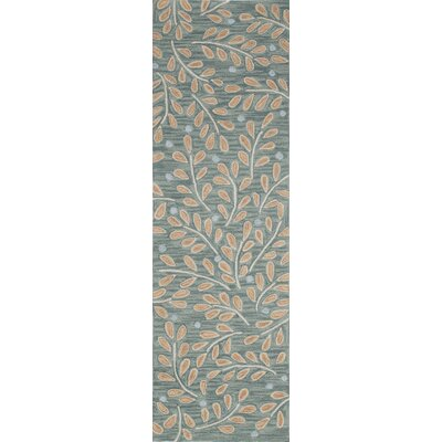 Cannon Hand-Hooked Green Area Rug Rug Size: Runner 23 x 76