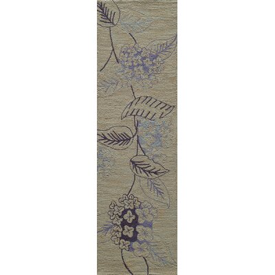 Carleon Hand-Hooked Lilac Area Rug Rug Size: Runner 23 x 76