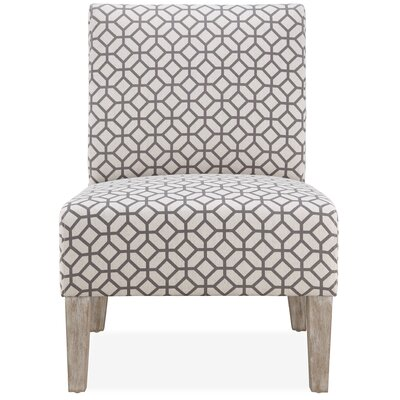 Rosario Slipper Chair Upholstery: Grey Geometric