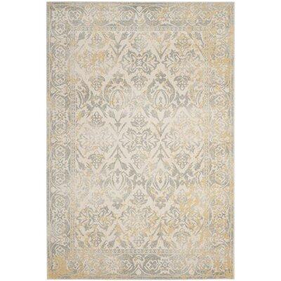 Montelimar Ivory/Grey Area Rug Rug Size: 51 x 76