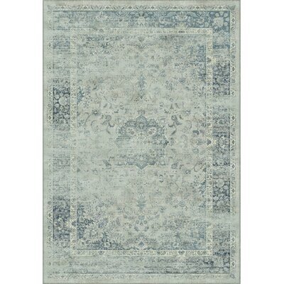 Malakoff Blue Area Rug Rug Size: Rectangle 53 x 76