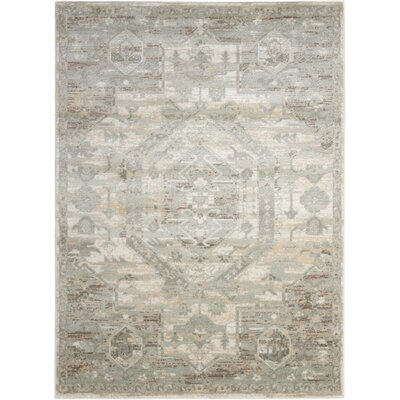Menthe Ivory/Gray Area Rug Rug Size: 2 x 3