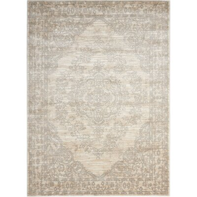Angelique Bone Area Rug Rug Size: Rectangle 2 x 3