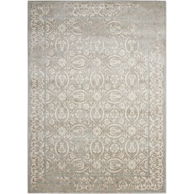 Angelique Gray and Ivory Area Rug Rug Size: Rectangle 2 x 3