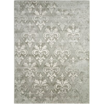 Angelique Gray Area Rug Rug Size: 2 x 3