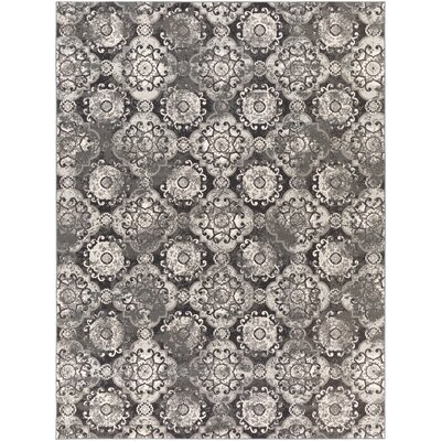 Raquel Charcoal & Black Area Rug Rug Size: Rectangle 711 x 11