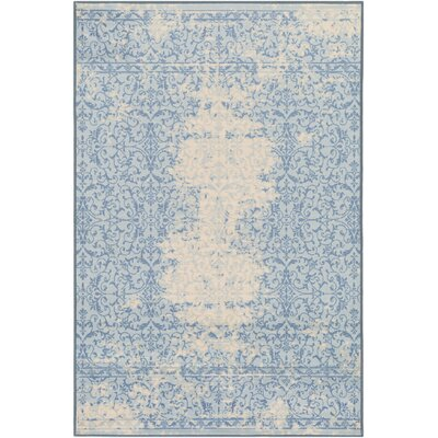 Cassie Blue/Beige Area Rug Rug Size: Rectangle 5 x 8