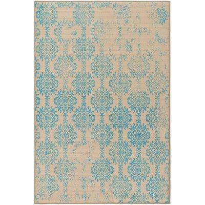 Mortemart Beige/Blue Area Rug Rug Size: 5 x 8