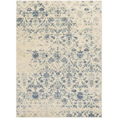 Shailene Blue/Cream Area Rug Rug Size: Rectangle 5 x 76