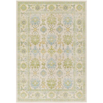 Velay Green/Blue Area Rug Rug Size: Rectangle 69 x 98