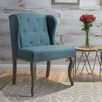 Soan Wingback Chair Upholstery: Dark Teal