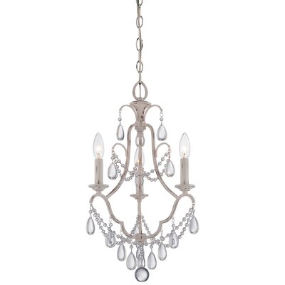 Alderson 3-Light Crystal Chandelier