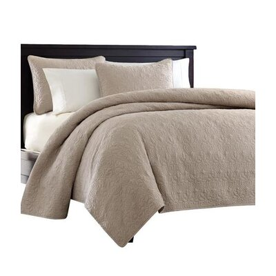 Emy Coverlet Set Size: Full / Queen, Color: Khaki