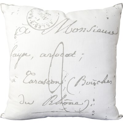 Landes 100% Cotton Pillow Cover Size: 18 H x 18 W x 0.25 D, Color: NeutralGray