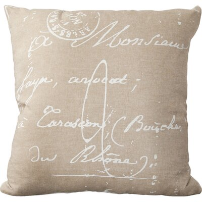 Landes 100% Cotton Pillow Cover Size: 18 H x 18 W x 0.25 D, Color: NeutralBrown