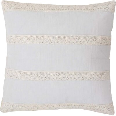 Juliana 100% Cotton Throw Pillow Color: Creme