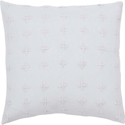 Adella 100% Cotton Throw Pillow Color: White