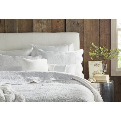 3 Piece Coverlet Set Size: Full / Queen, Color: White